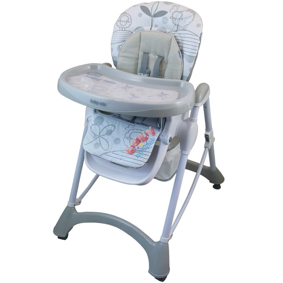 564ae769ec54 Jedálenská stolička Baby Mix light grey Sivá - Jedálenské stoličky ...