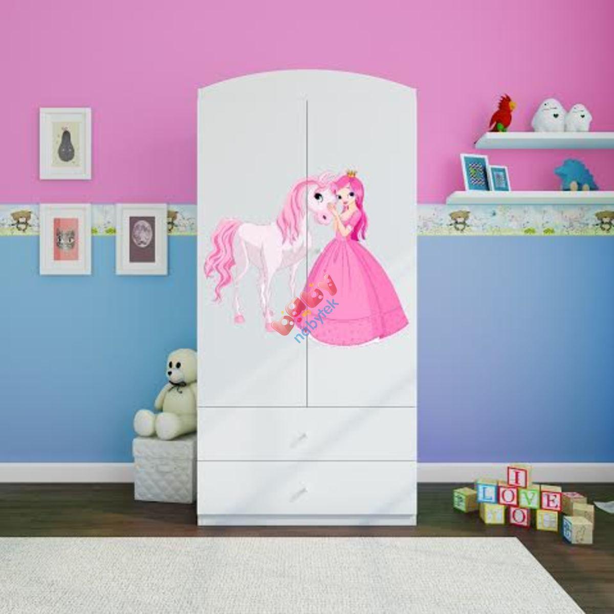 6bffb182945a8 OURBABY šatníková skriňa - princezná s koníkom - Šatníkové skrine ...