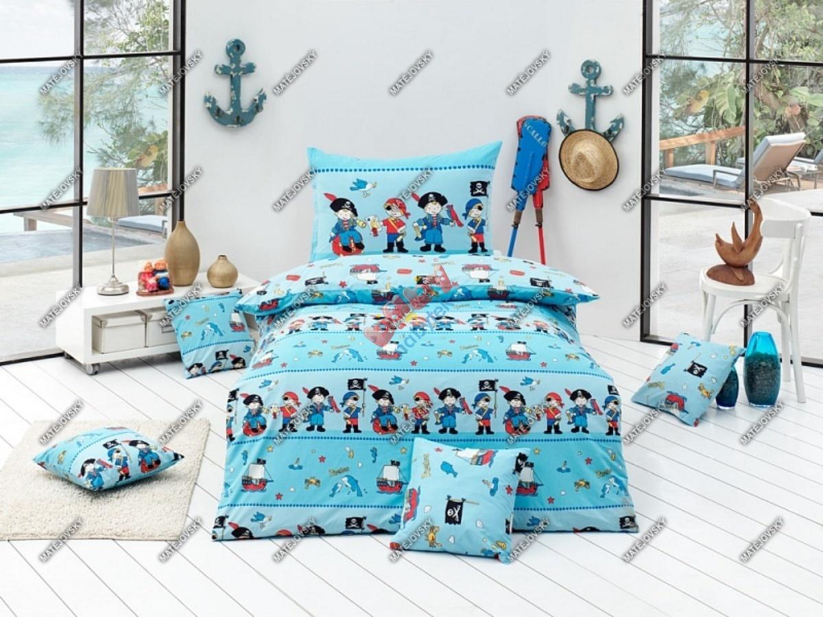 89989adeb3854 Detské obliečky - malí piráti - Detské bavlnené obliečky ...