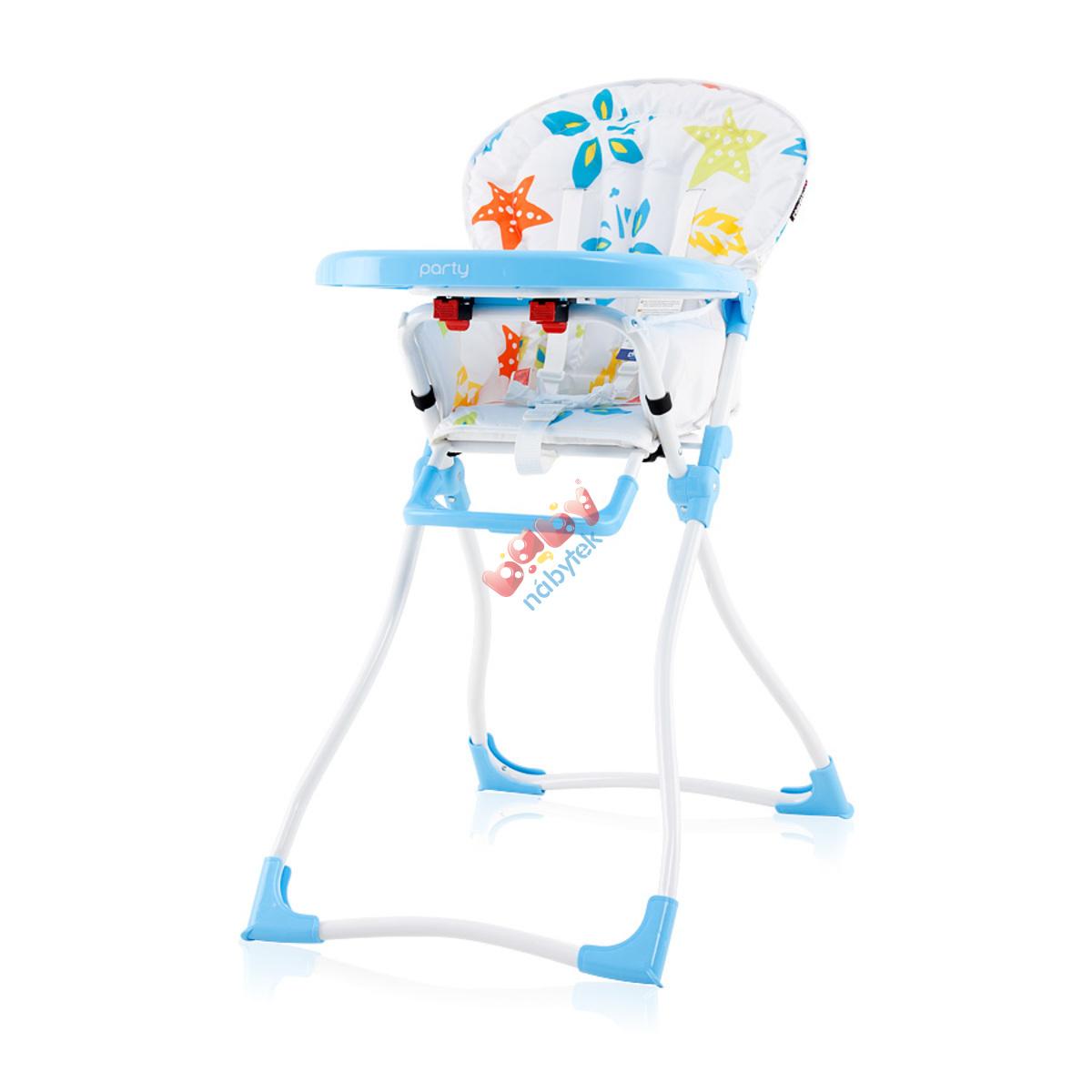 0dc7d0a6ff40 CHIPOLINO detská jedálenská stolička Party - Sky blue - Jedálenské ...