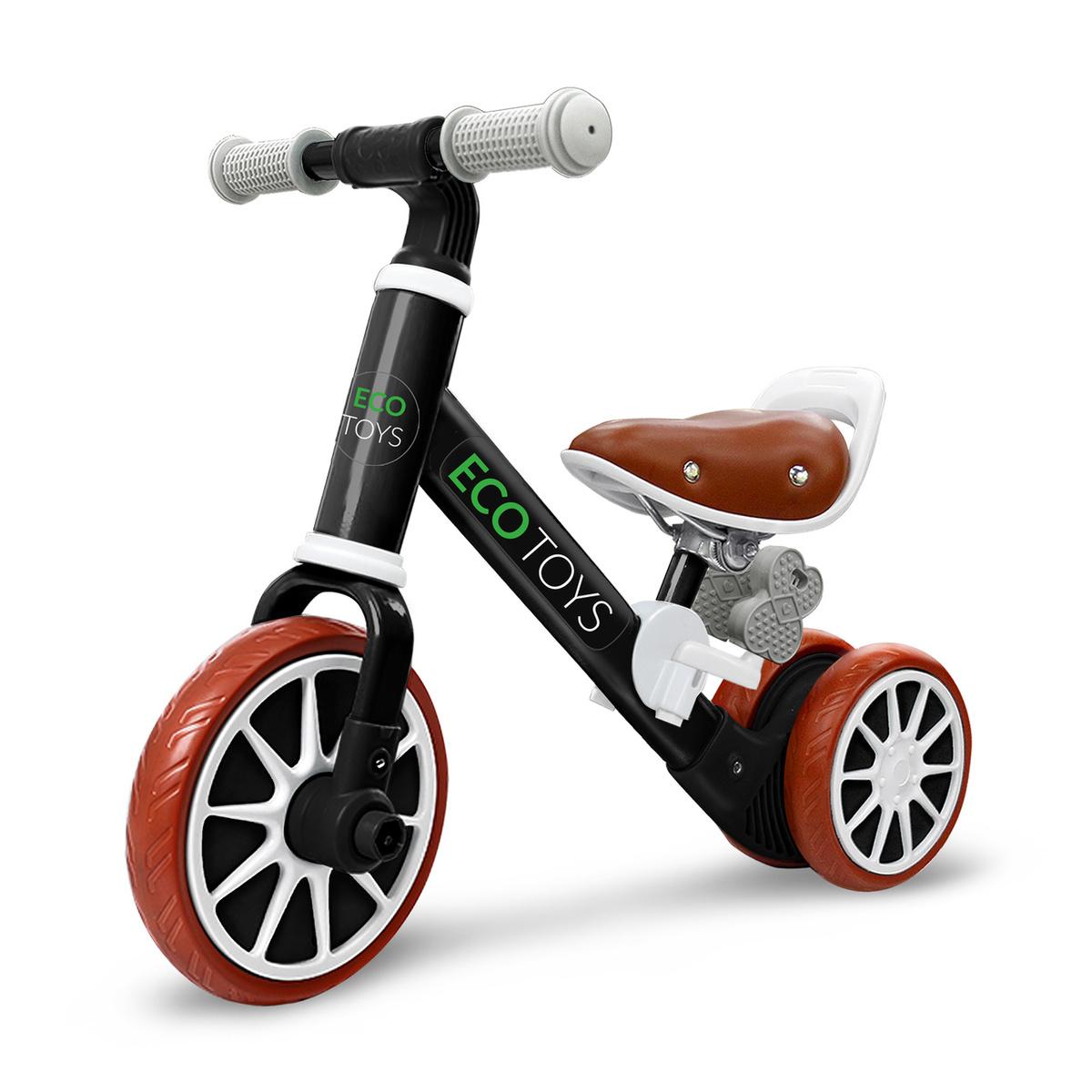 Detské odrážadlo Rider 2v1 - čierne black scooter