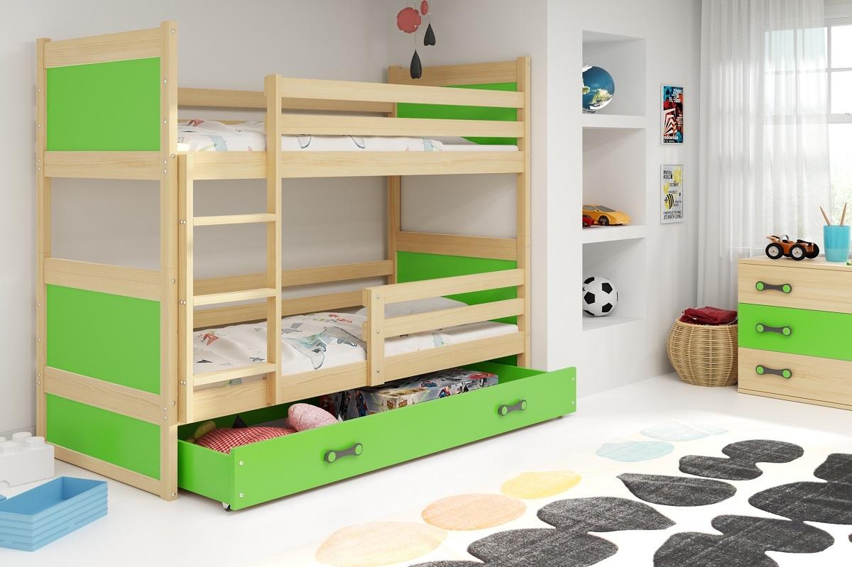 Detská posteľ Ourbaby Rocky zelená 160x80 cm