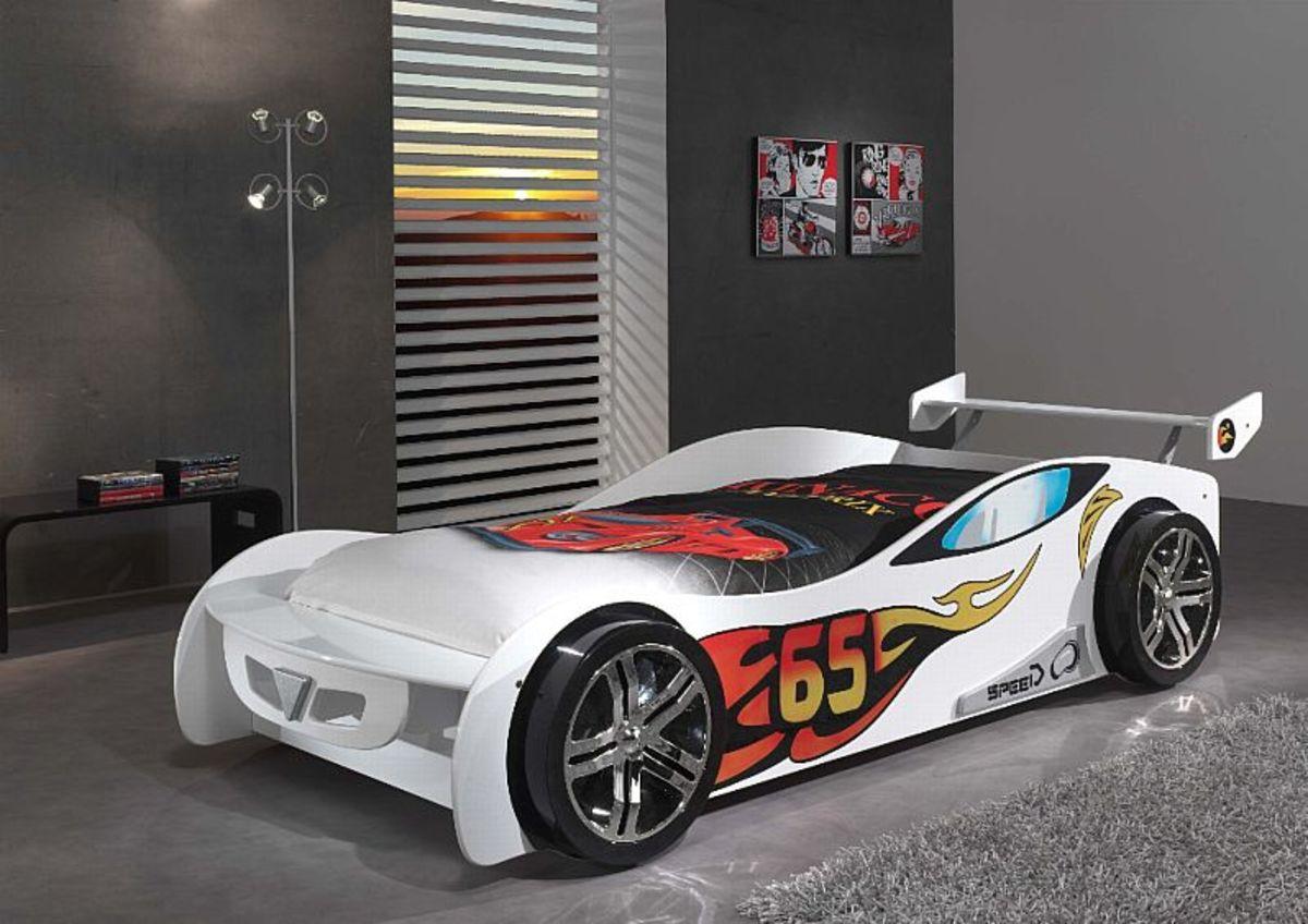 Detská posteľ auto Le Mans - biela Car