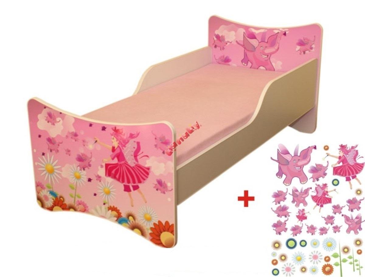 Detská posteľ - víly Fairy 160x90 cm posteľ bez úložného priestoru