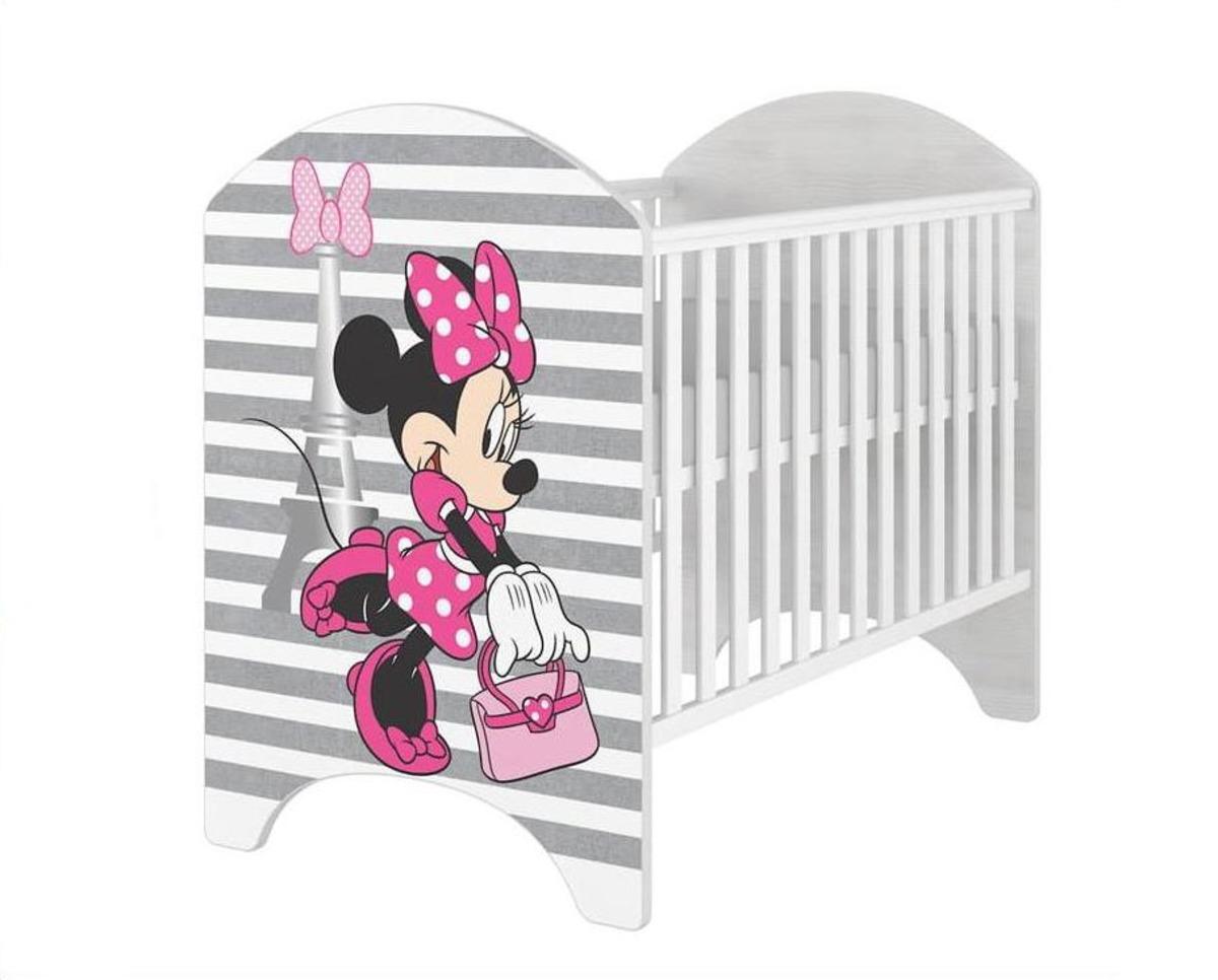 Detská postieľka Minnie Mouse Eiffel Tower Cot postieľka