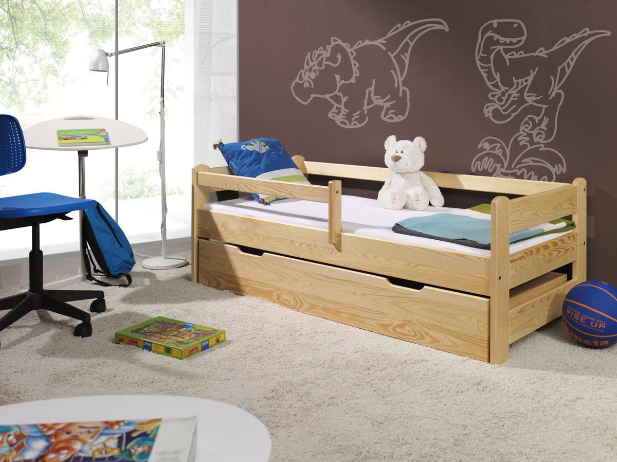 Detská posteľ Ourbaby Guardy Natural prírodná 160x70 cm