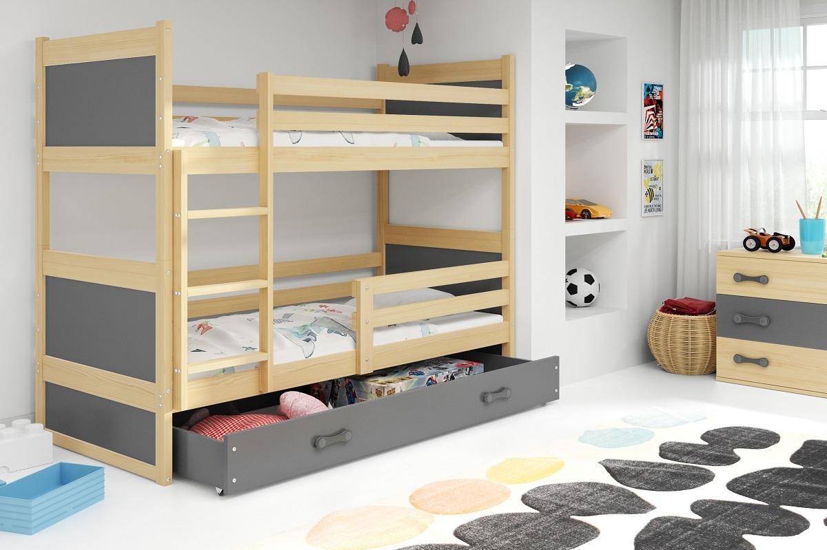 Detská posteľ Ourbaby Rocky sivá 160x80 cm