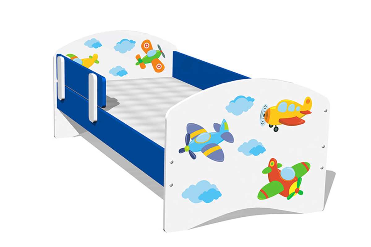 Detska posteľ - lietadlá Airplanes 160x70 cm posteľ