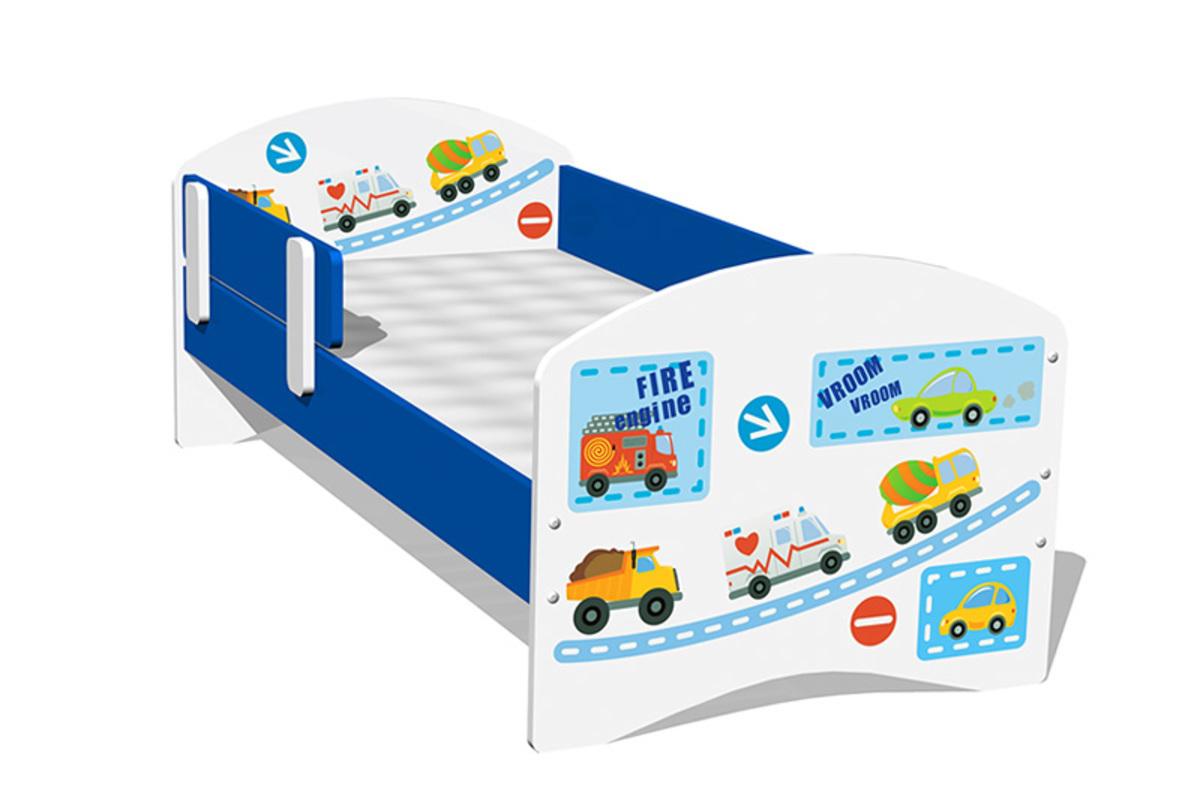 Detská posteľ - autá Vroom 160x70 cm