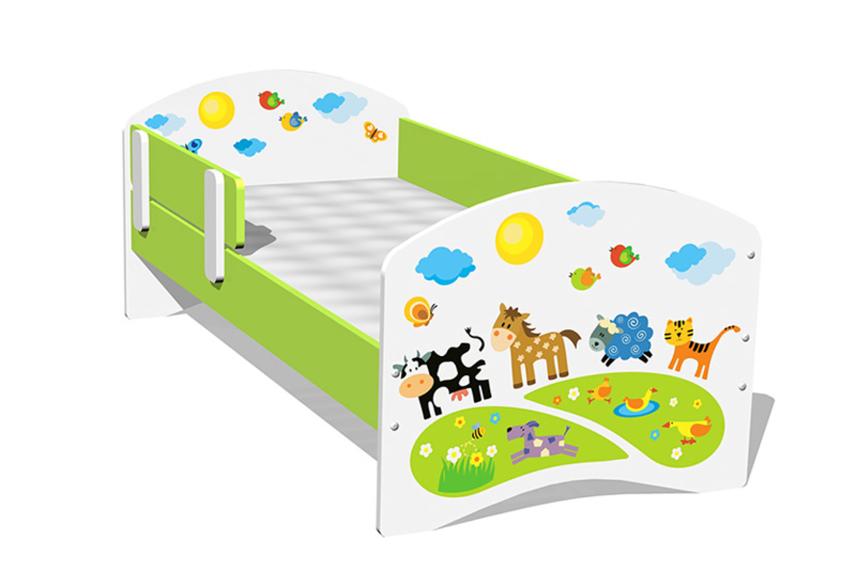 Detská posteľ - farma 160x70 cm posteľ
