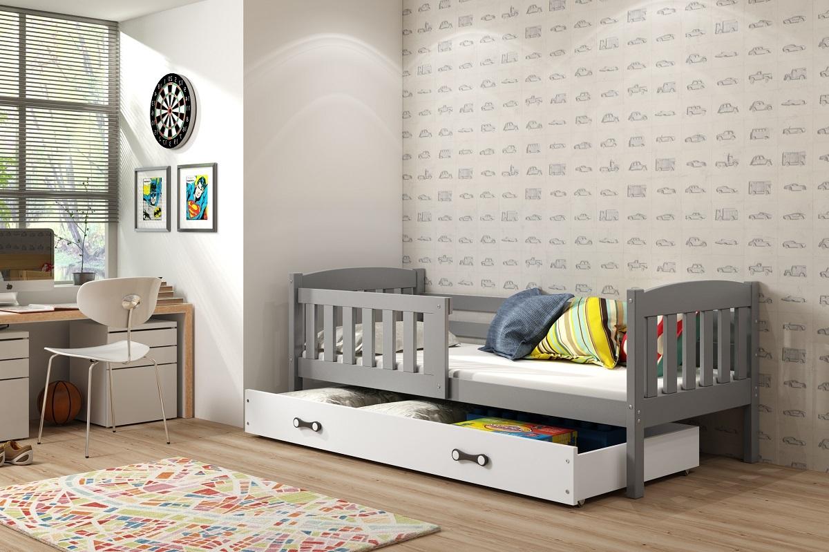 Detská posteľ Ourbaby Exclusive sivá 160x80 cm