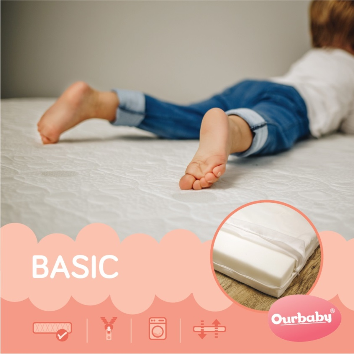 Matrace Ourbaby BASIC 190x100 cm