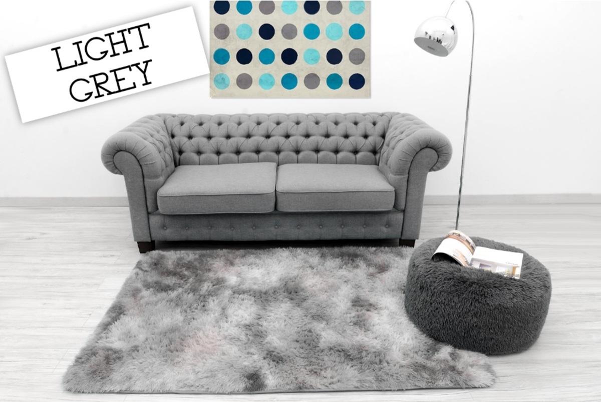 Detský plyšový koberec Ombre Light Grey 160 x 230 cm
