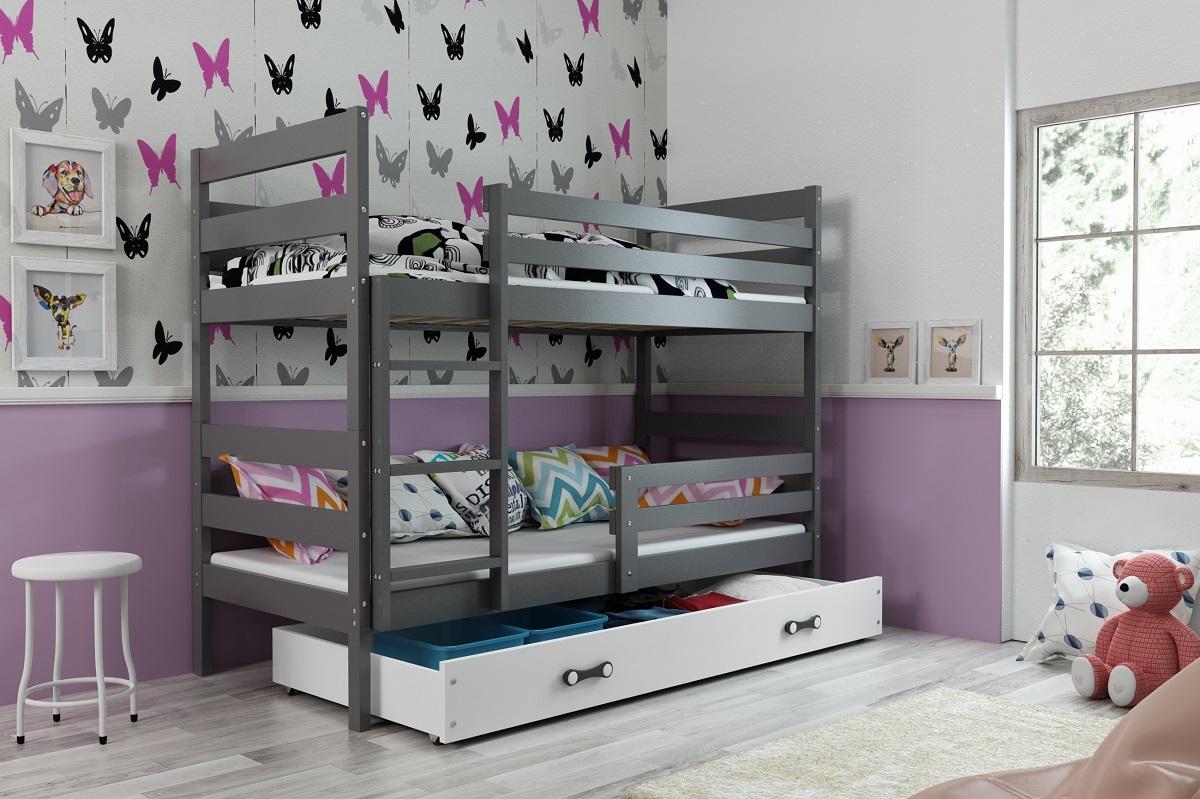 Detská posteľ Ourbaby Erika sivá 160x80 cm