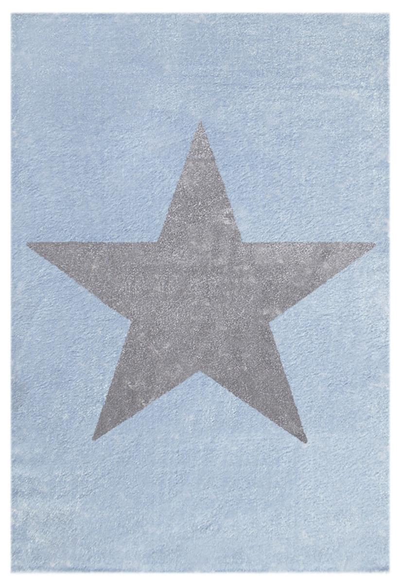 Detský koberec STAR modro-strieborno-sivý 120 x 180 cm