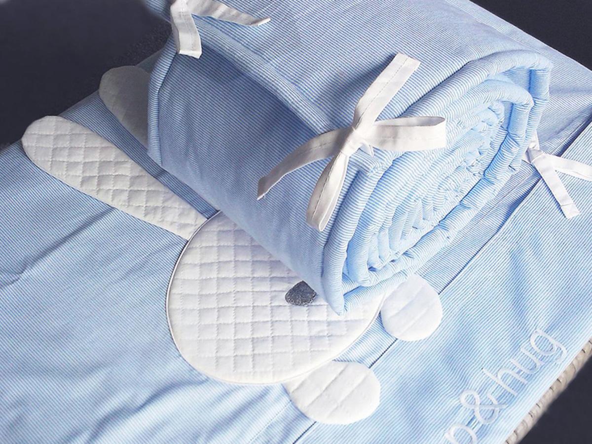 Detské 3-dielne obliečky sleep&hug - modré 120x90 + 60x40 cm