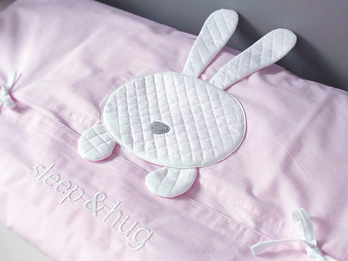 Detské 2-dielne obliečky sleep&hug - ružové 76x76 cm zavinovačka