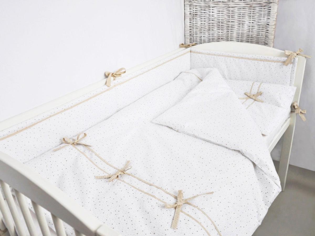 Detské 3-dielne obliečky MINI-MINI - béžové 120x90 cm