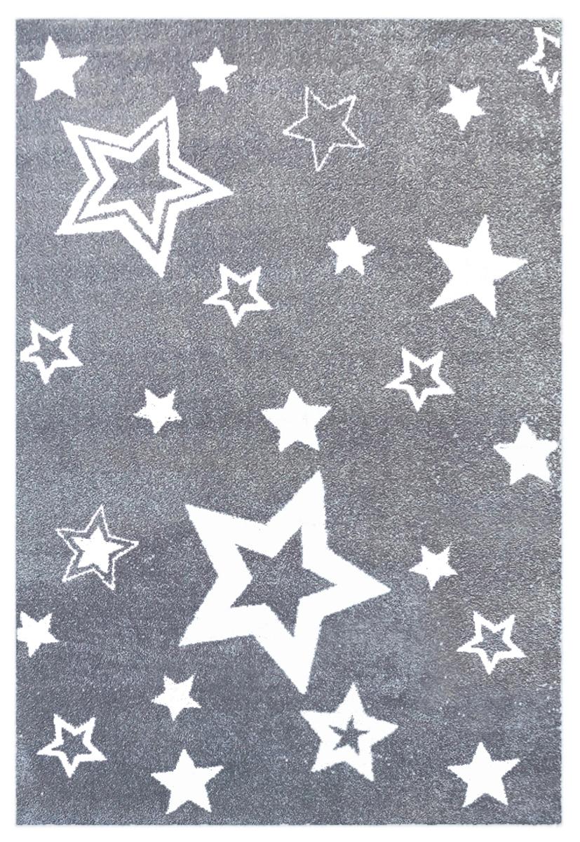 Detský koberec STARLIGHT - sivý/biely 130 x 190 cm