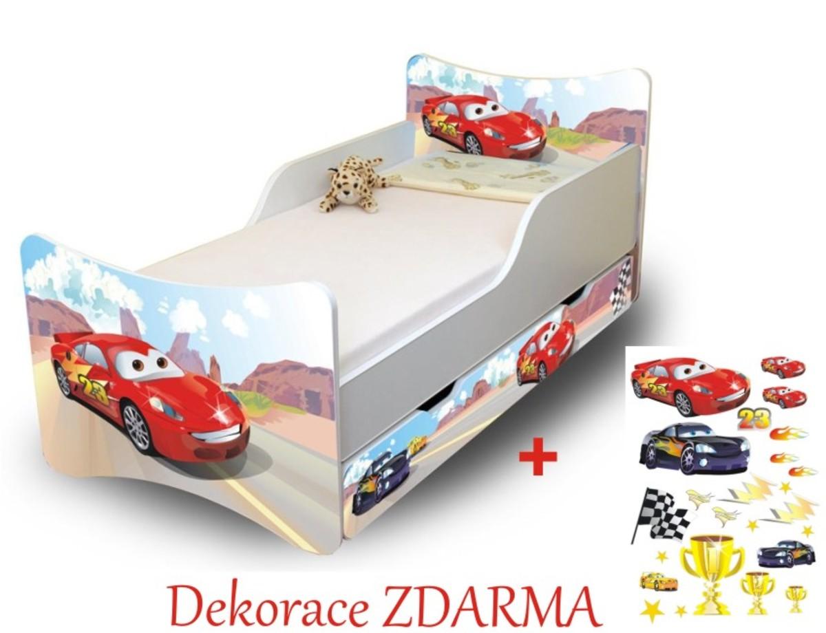 Detská posteľ - Racer 180x80 cm posteľ bez úložného priestoru