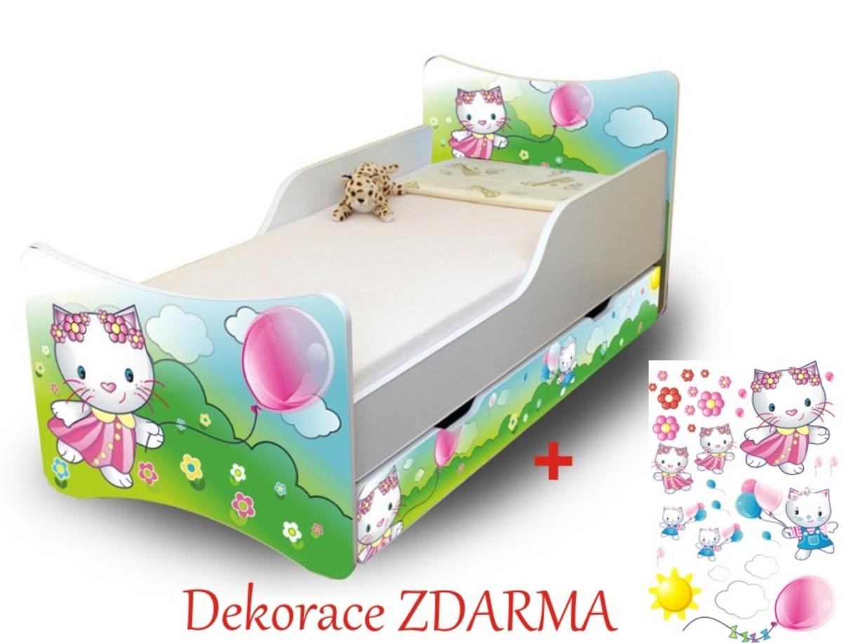 Detská posteľ mačička Cat 180x80 cm posteľ bez úložného priestoru