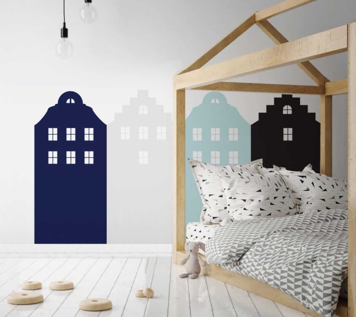 Dekorácia za posteľ DEKORNIK - Amsterdam - modrá