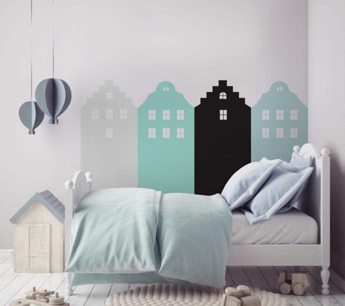 Dekorácia za posteľ DEKORNIK - Amsterdam - mätvozelená DEKO.N.ZAL.007