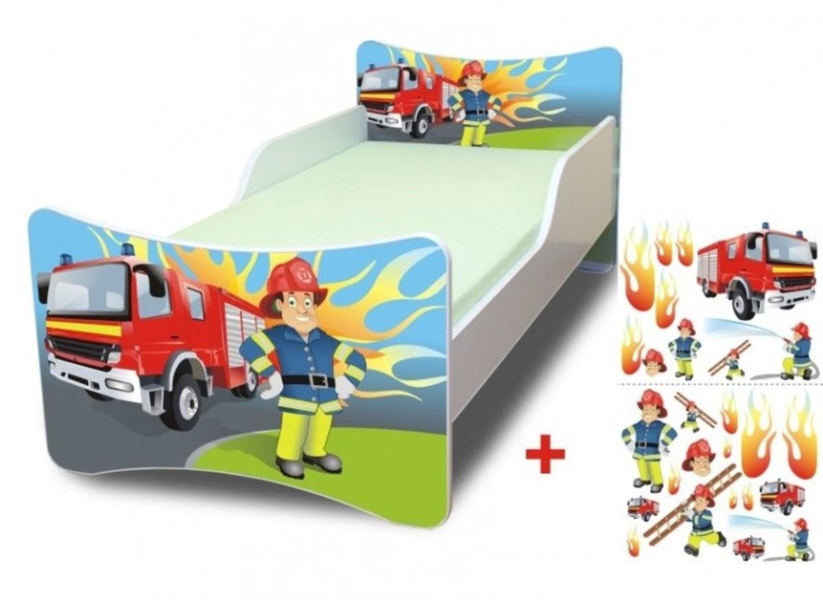 Detská posteľ Ourbaby Fireman biela 160x90 cm
