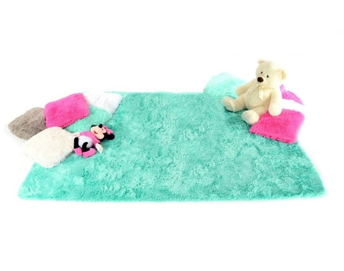 Detský plyšový koberec - mint 140 x 200 cm