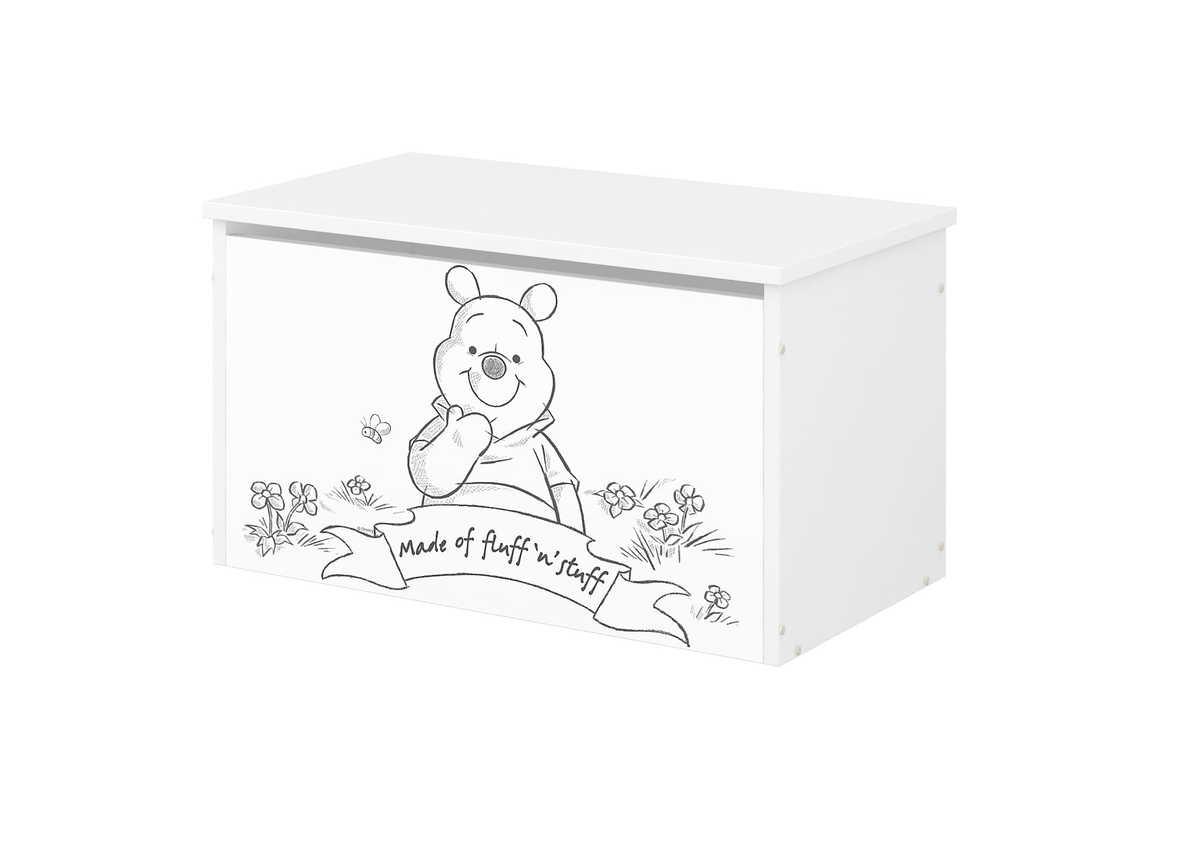 Drevená truhla na hračky Disney - Medvedík Pú toy chest Winnie the Pooh