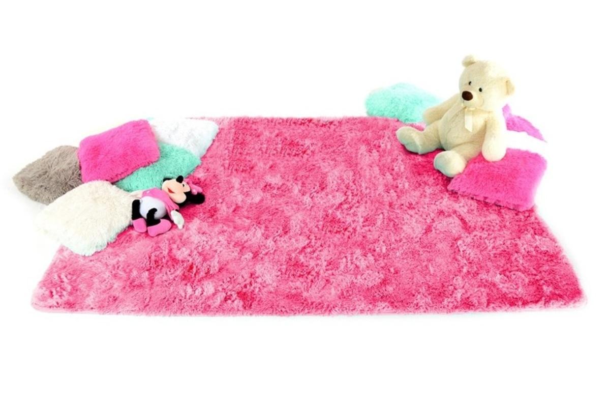 Detský plyšový koberec - Hot Pink 140 x 200 cm