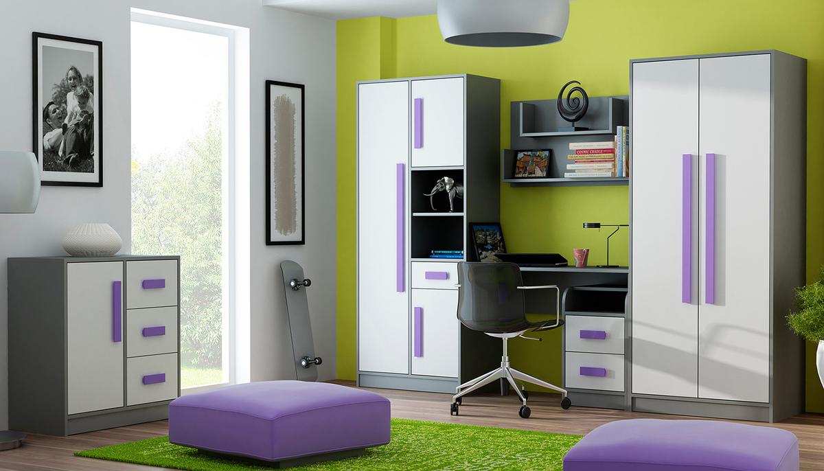Detská izba Gita - fialová polička 90 cm