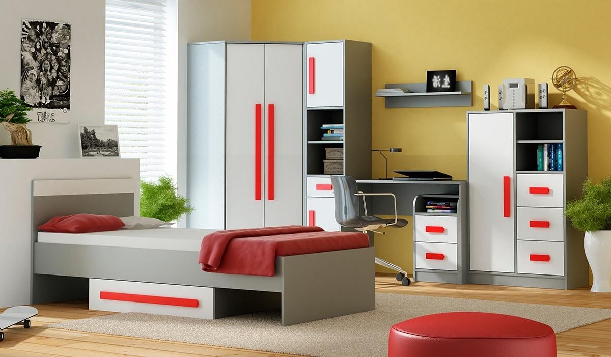 Detská izba Gita - červená polička 90 cm