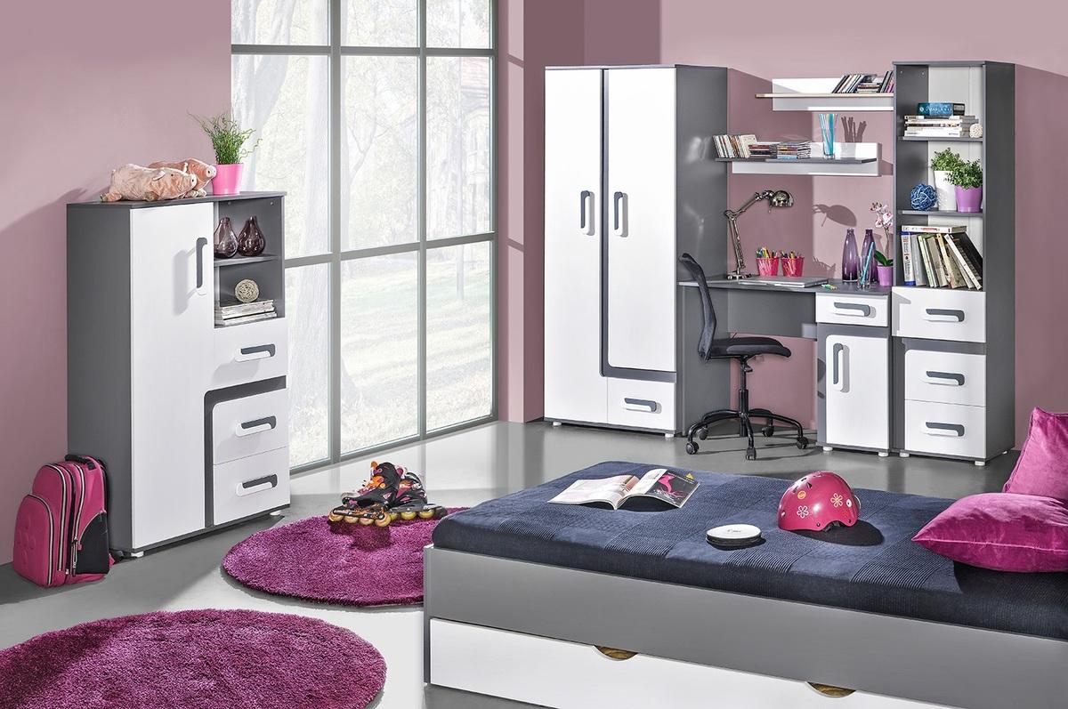 Detská izba Apolo - šedá posteľ 200x90 cm