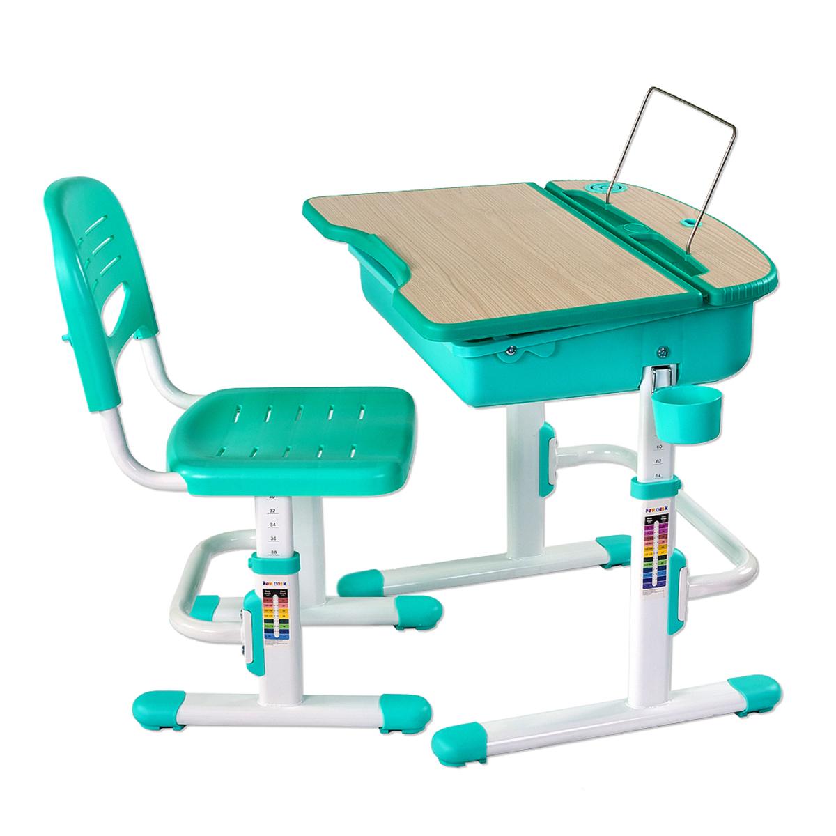 Detský písací stôl CAPRI - rôzne farby stojan na knihy /