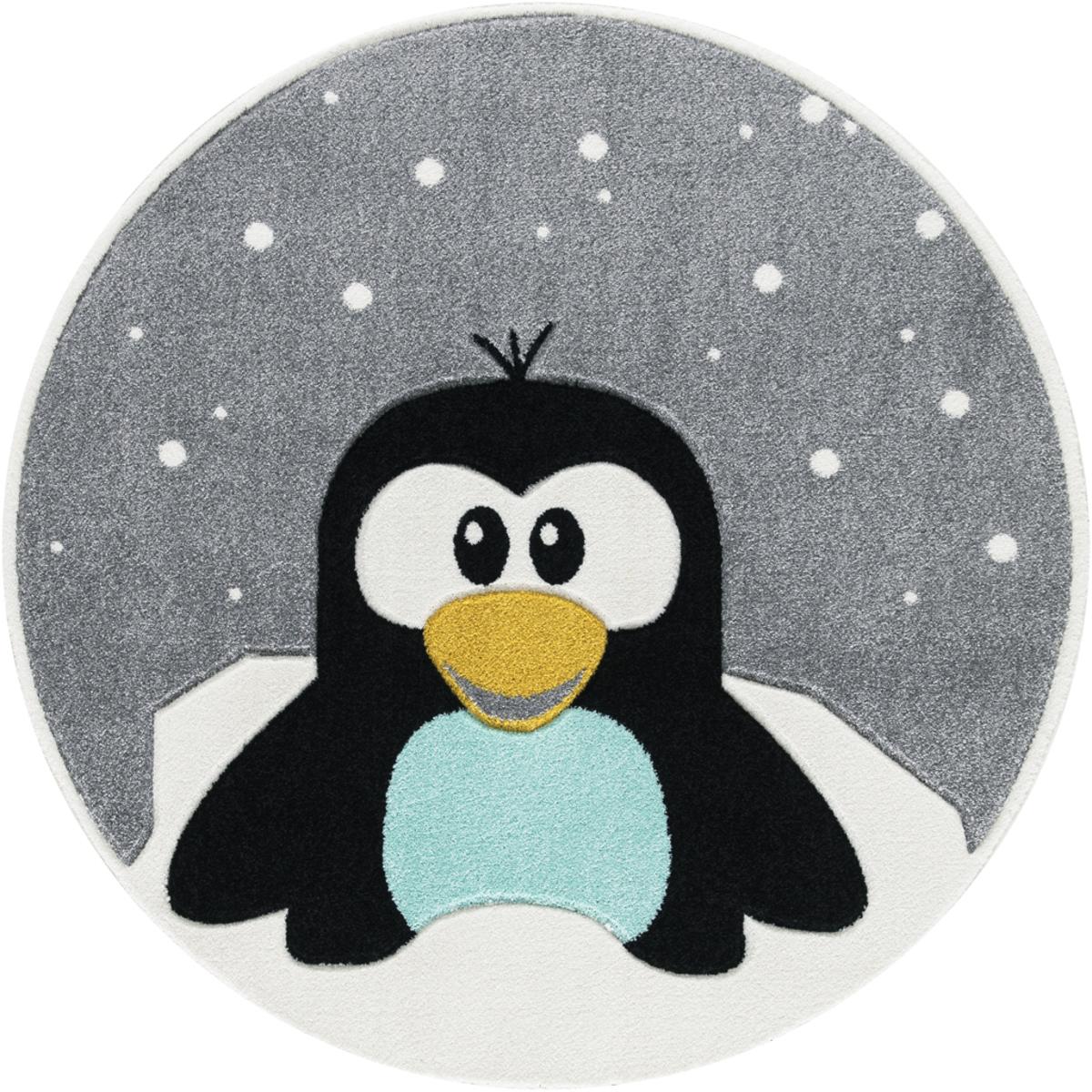 Detský okrúhly koberec - tučniak 133 cm Penguin oval