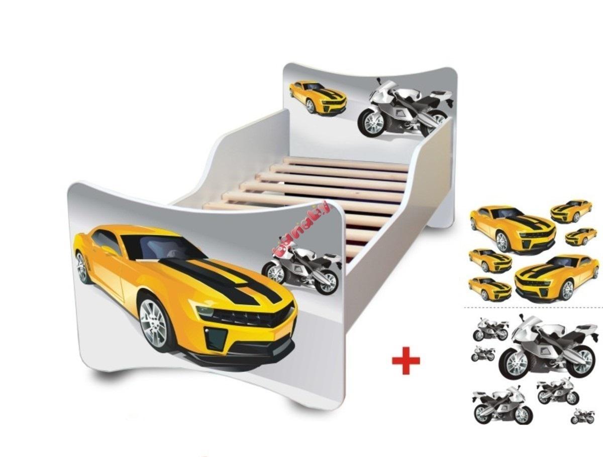 Detská posteľ - pretekár Racer 180x80 cm posteľ bez úložného priestoru
