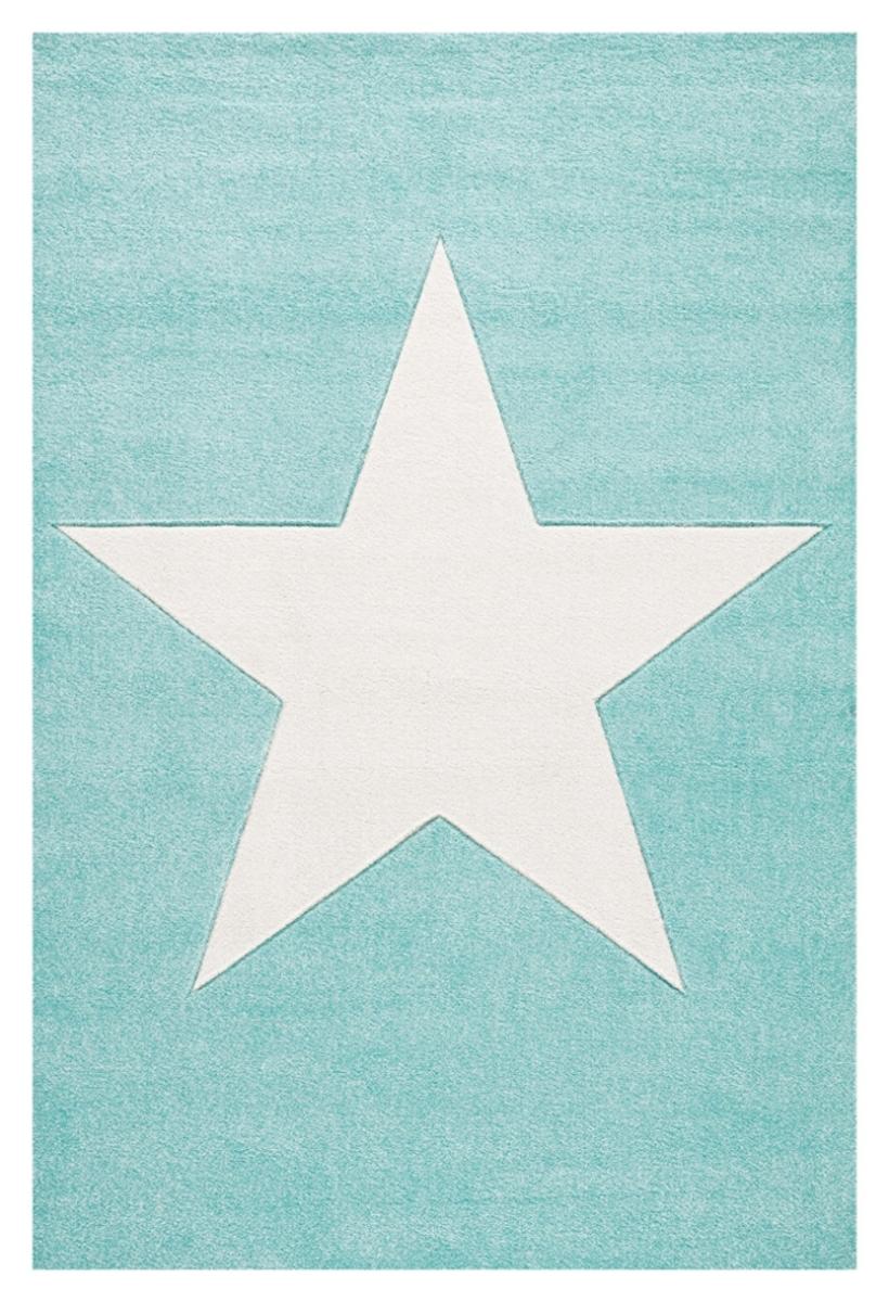 Detský koberec STARS - mätovozelený-biely 120 x 180 cm
