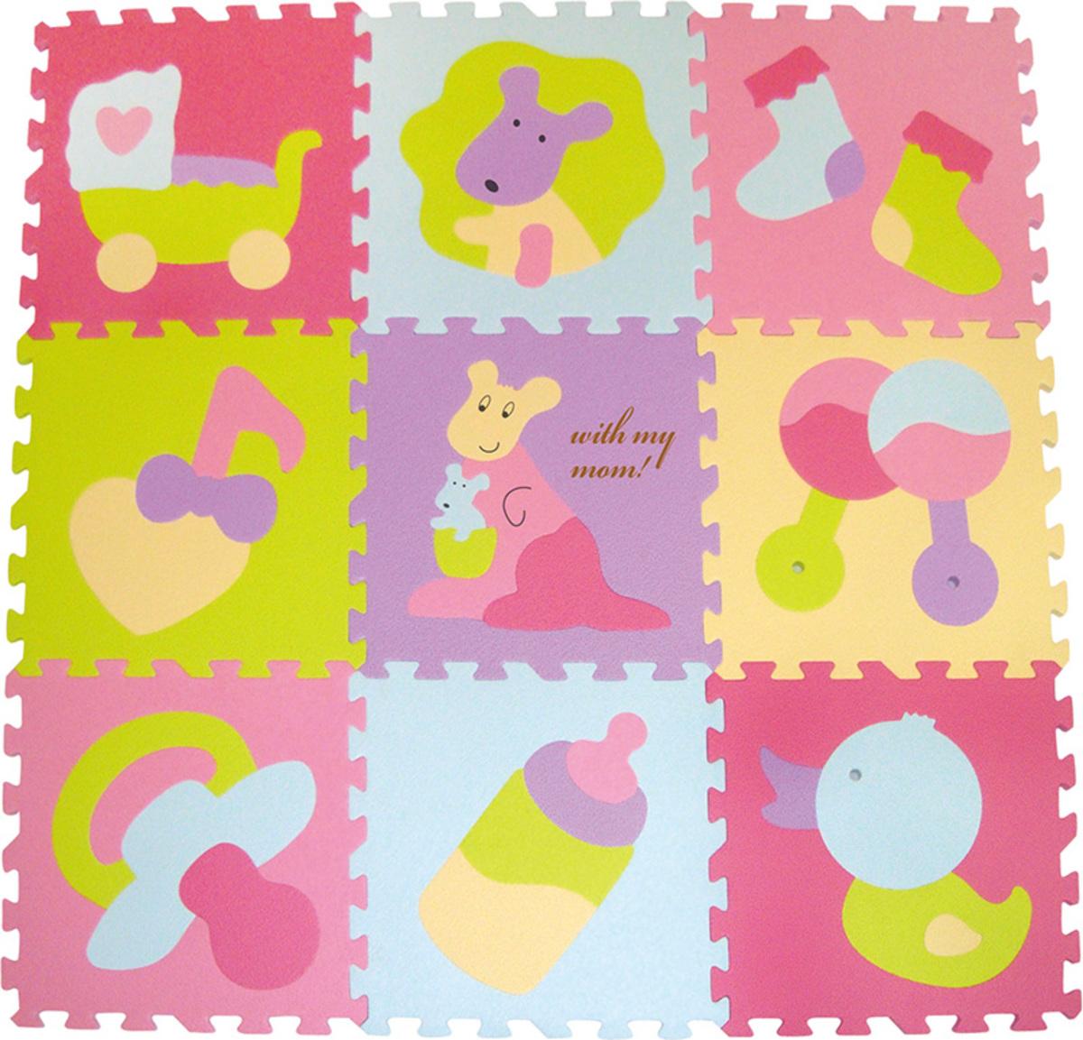 Penové puzzle - farebné hračky