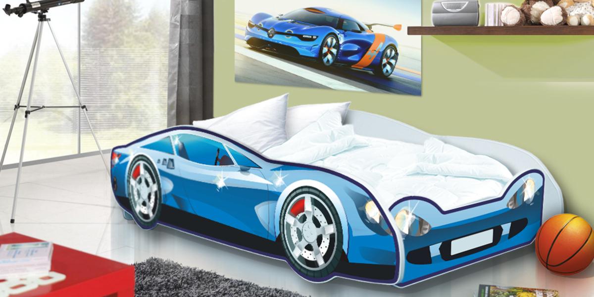 Detská posteľ - auto Speedy - modré Car