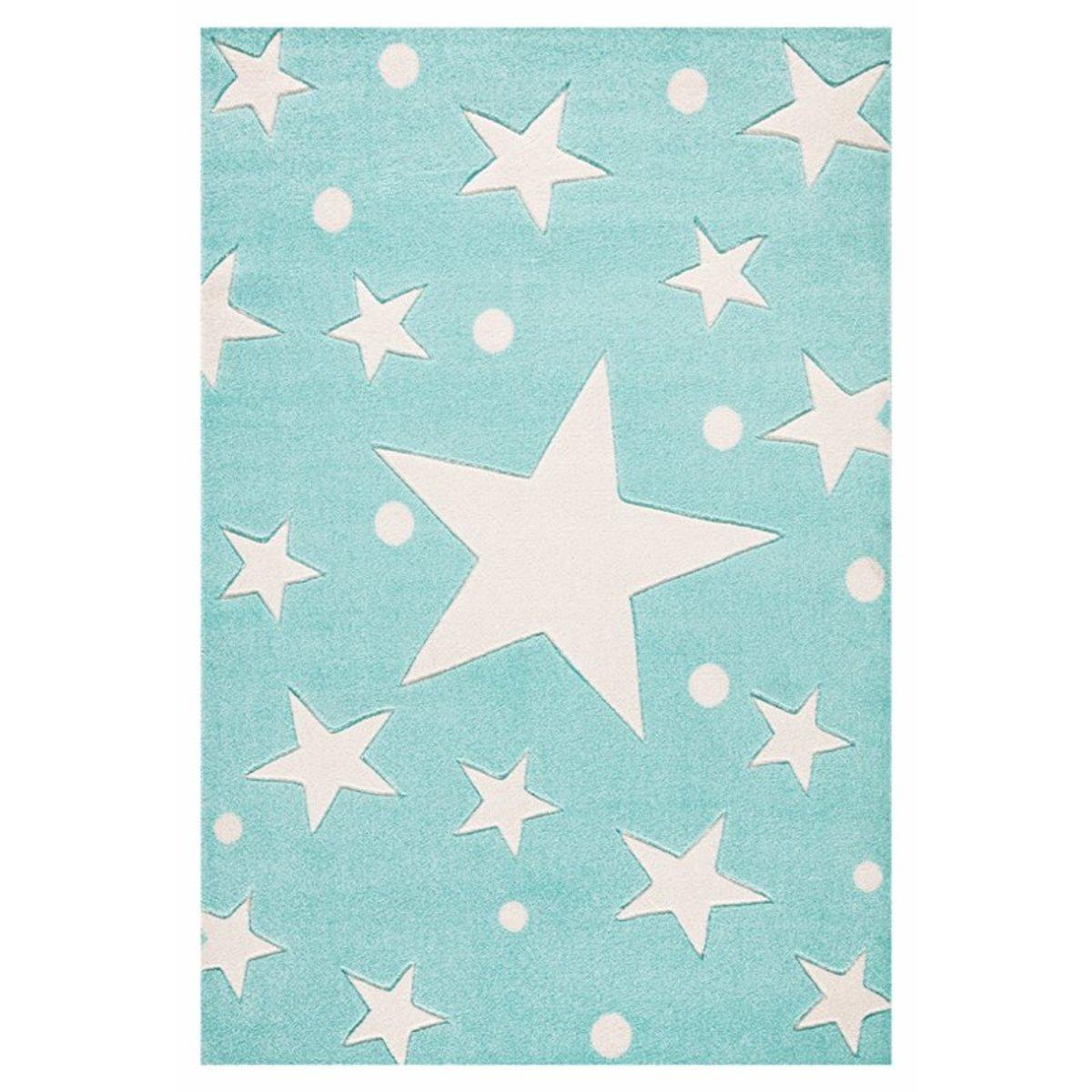 Detský koberec STARS mätový 120 x 180 cm