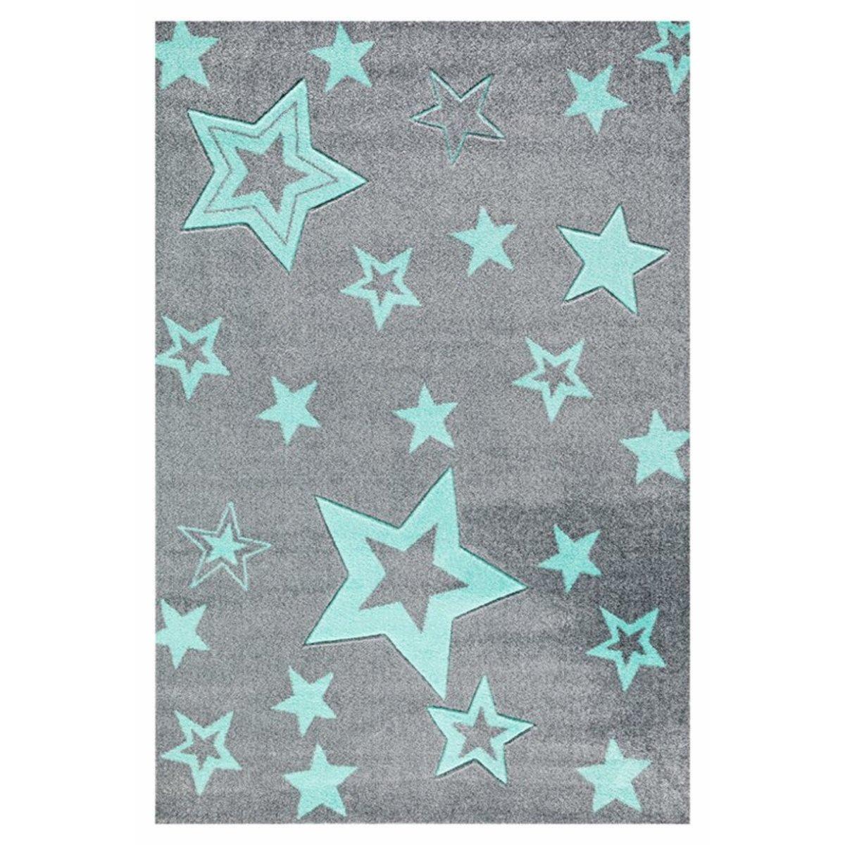 Detský koberec STARLIGHT - grau/mint 160 x 230 cm