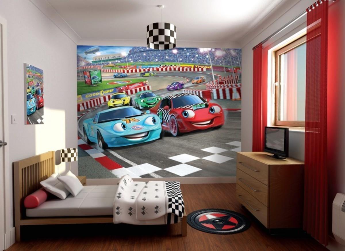 3D tapeta - autá