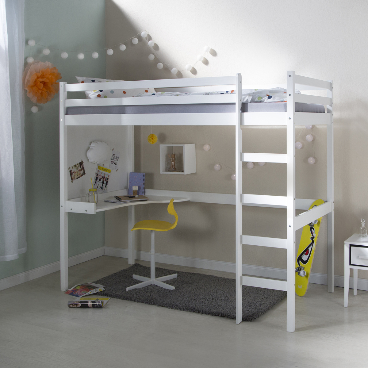 Detská posteľ Ourbaby biela 200x90 cm