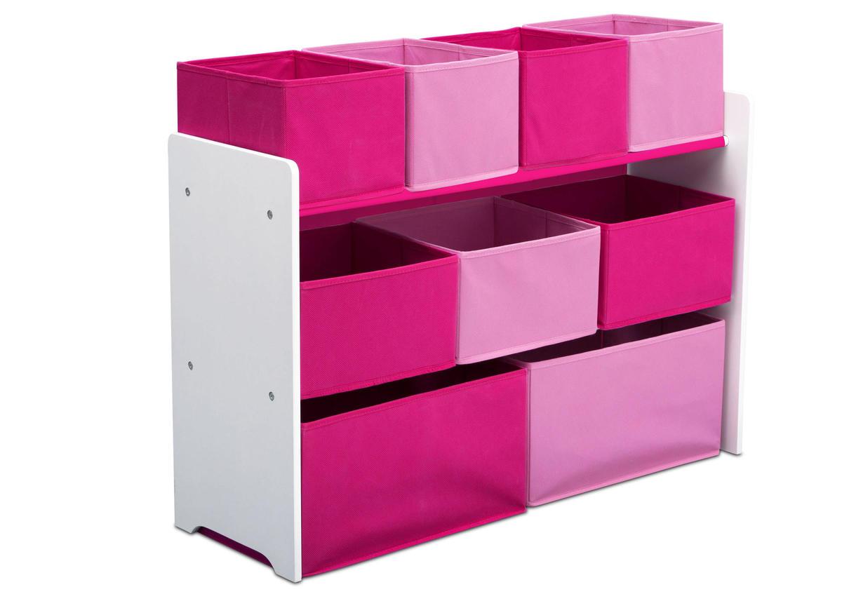 Organizér na hračky - ružovo-biely TB83413GN