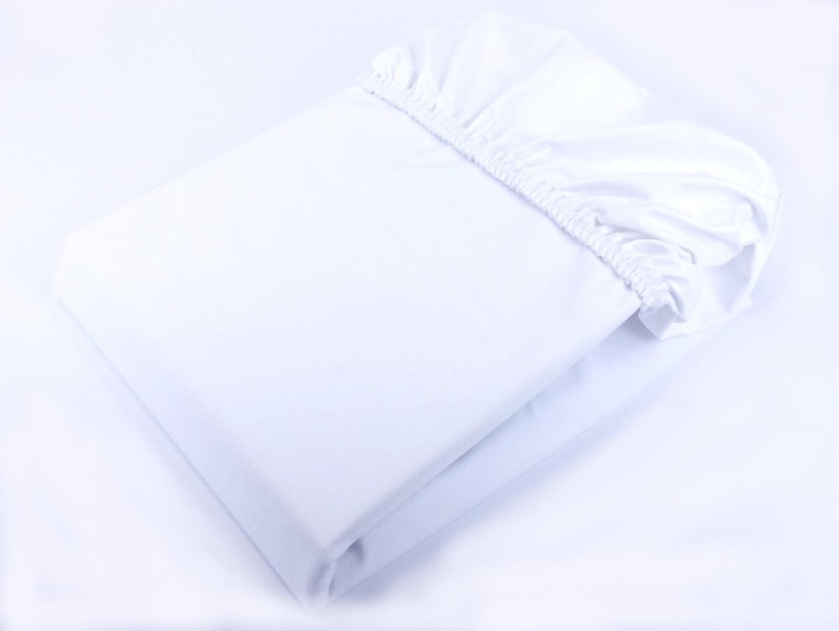 Nepremokavá bavlnená plachta - biela 140x70 cm