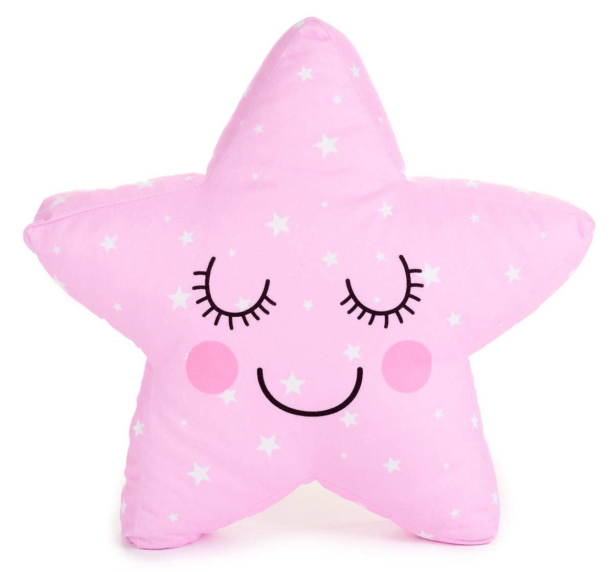 Vankúšik s menom - hviezda 3D ružová
