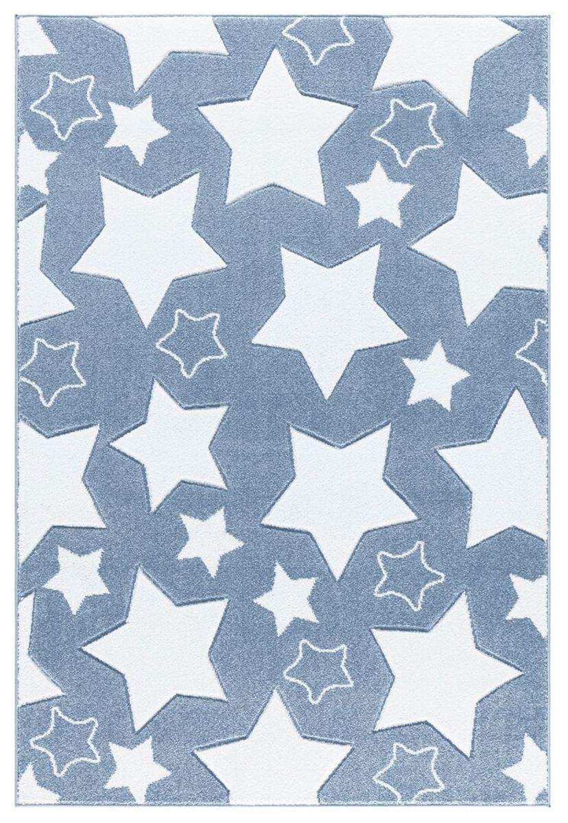 Detský koberec SKY - modrý 120 x 180 cm hviezdičky