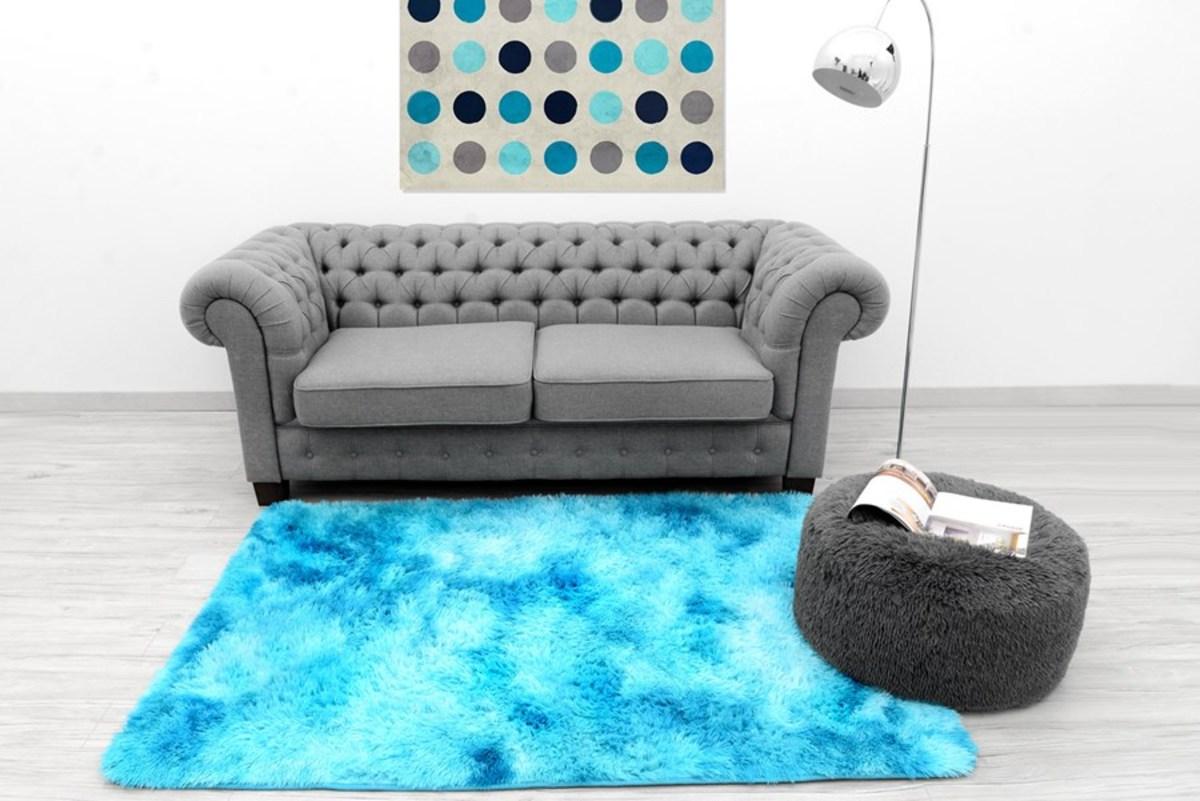 Detský plyšový koberec Ombré Blue 140 x 200 cm