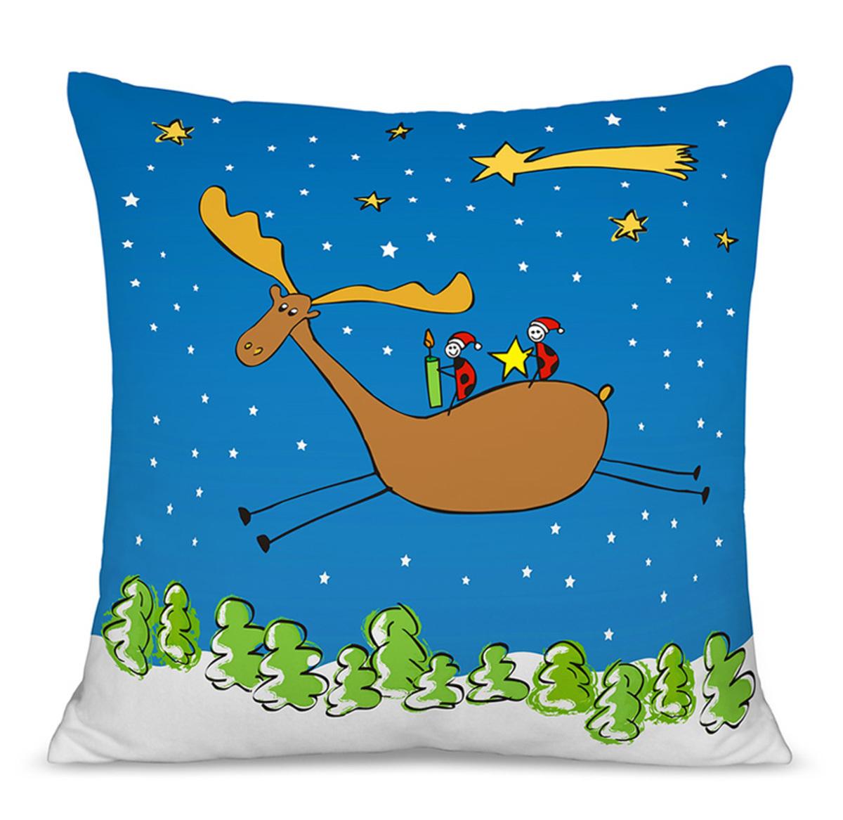 Vianočný detský vankúšik 07 40x40 cm poťah + výplň